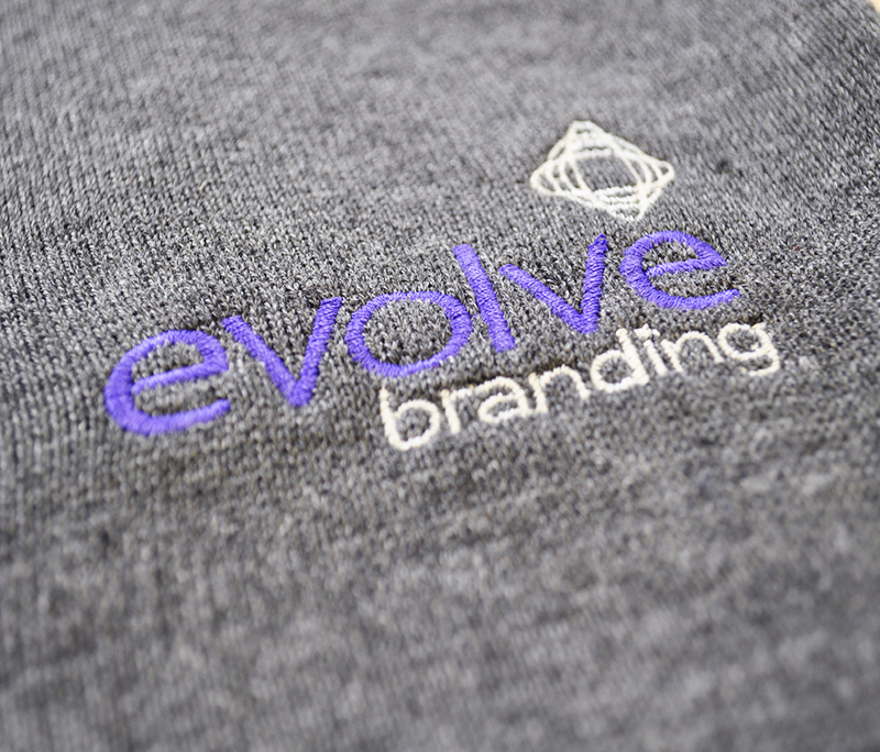 embroidery by Evolve branding
