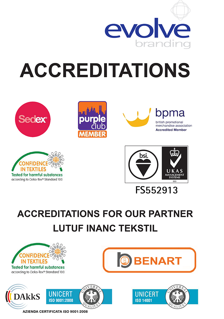 Accreditations garment screen printing